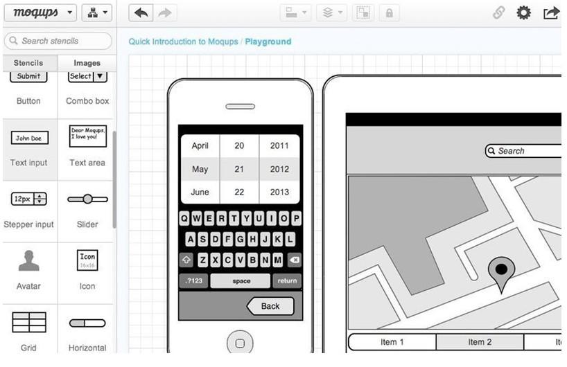 优秀移动APP产品原型设计工具之Moqups